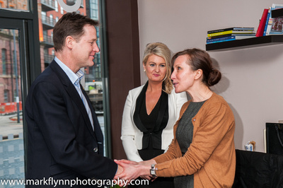 Agne with Nick Clegg